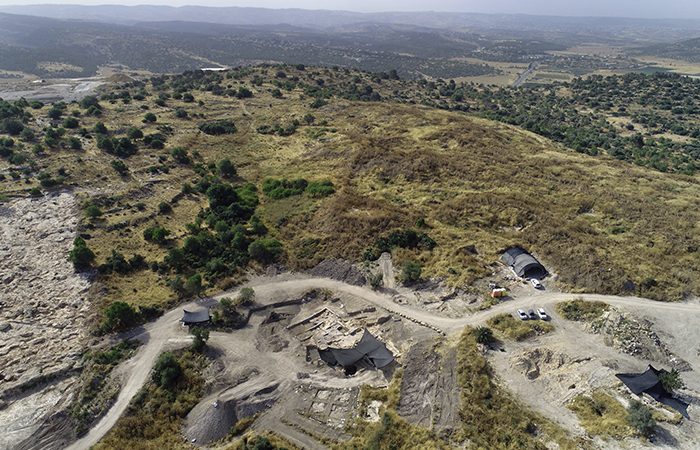 Le site des fouilles menées par l'Autorité israélienne des antiquités à Ramat Beit Shemesh, à l'Ouest de Jérusalem. Photo: Assaf Peretz, Israel Antiquities Authority.