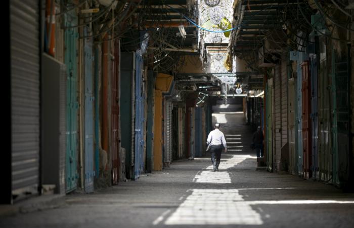 Quartier chrétien. Vieille ville de Jérusalem. 28 mars 2020. Olivier Fitoussi/Flash90