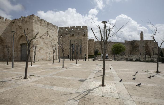 Porte de Jaffa. 28 mars 2020. Olivier Fitoussi/Flash90