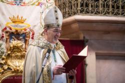 L'entrée du patriarche Mgr Pizzaballa au Saint-Sépulcre
