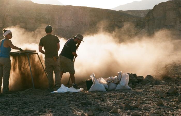 Excavation de la colline des esclaves à Timna. photo de Sagi Bornstein, gracieuseté du Central Timna Valley Project