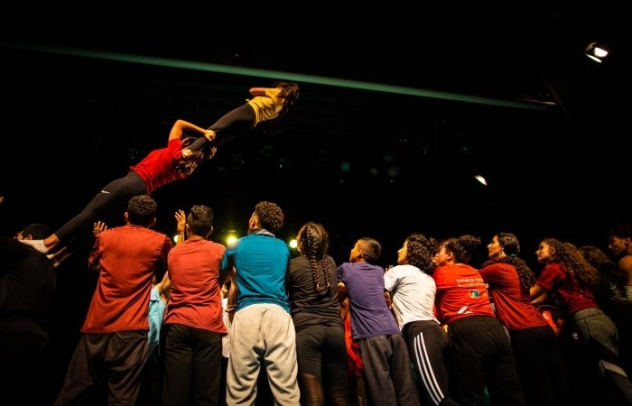 Activités de groupe pendant les entraînements.