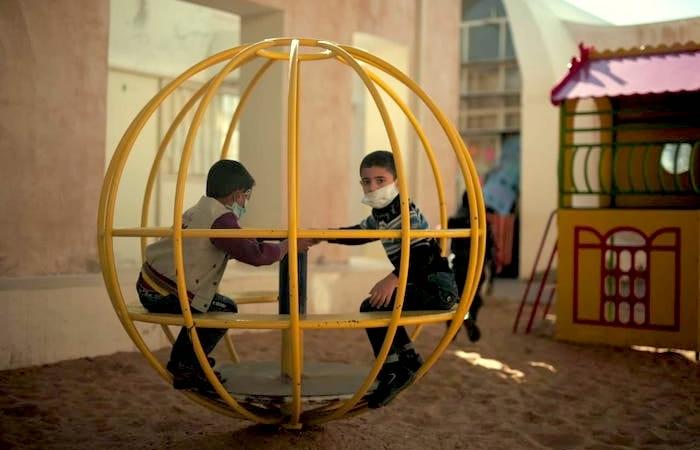 Les enfants de Gaza font face à la Covid