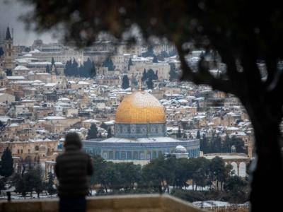 En photos : Tempête de neige à Jérusalem