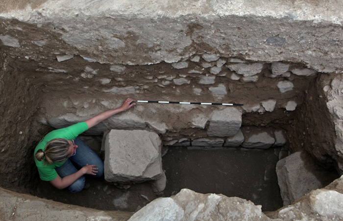 Les fondations de la mosquée du VIIe siècle découverte à Tibériade © NTEP -David Silverman