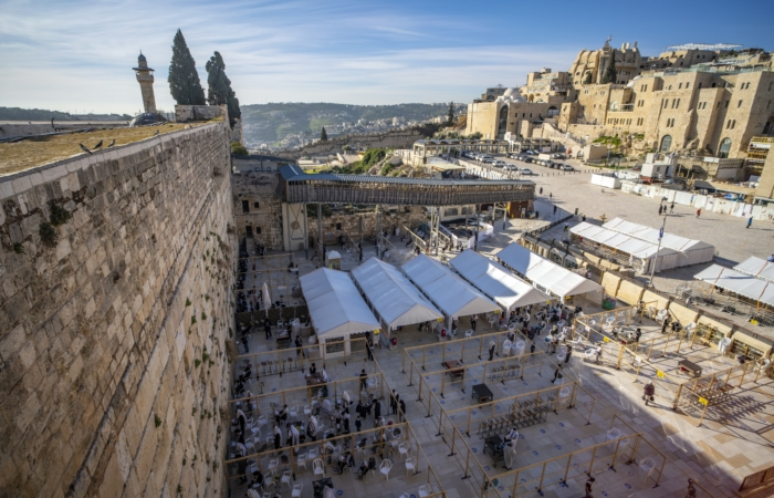 Ce travail de conservation vise à protéger les fidèles qui vont affluer en masse pour la Pâque juive. Photo Yaniv Berman Israel Antiquities Authority