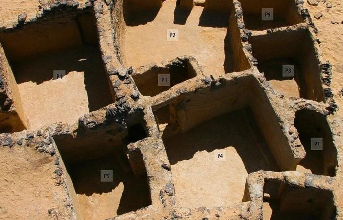 Anciennes structures chrétiennes sur le site de Tal Ganoub Qasr Al Agouz, dans le désert occidental de l'Egypte © Ministère égyptien des Antiquités