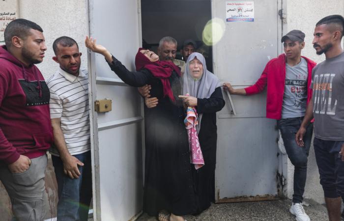 Une mère pleure son enfant, mort avec huit autres lors d'un bombardement israélien. ©Fatima Shbair