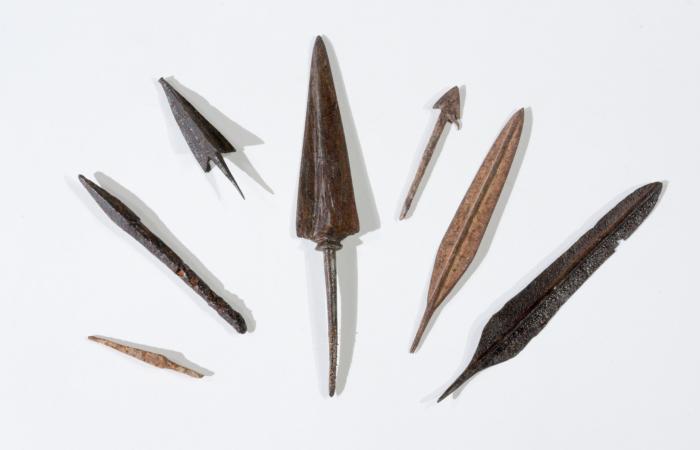 Pointes de flèches de la période romaine © Dafna Gazit, Israel Antiquities Authority