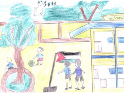 École en Palestine, les urgences au-delà du Covid