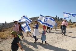 La «marche des drapeaux» s'exporte en Cisjordanie