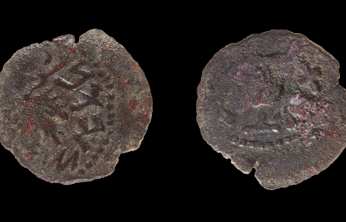 Découverte de deux pièces de monnaie, témoins des révoltes juives