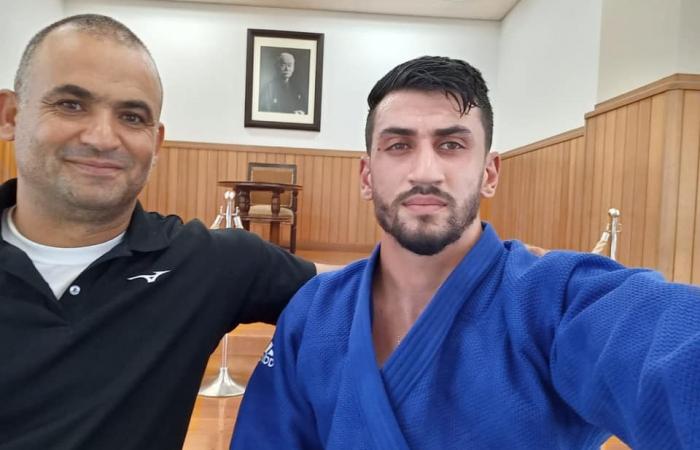Le judoka Wesam Abu Rmilah (en bleu à droite) ©Wesam Abu Rmilah
