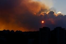 Les abords de Jérusalem face à un de leurs plus gros feux de forêt