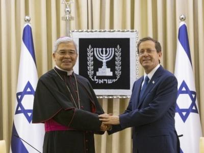 Accréditation de Mgr Yllana, nonce en Israël