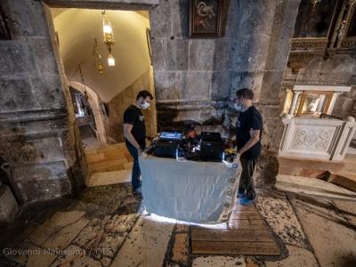 Reprise des travaux de restauration de la basilique du Saint-Sépulcre